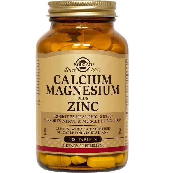 Solgar Calcium Magnesium Plus Zinc 100 Tablets Vegan In Stock