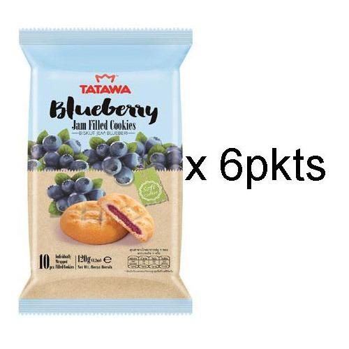 Tatawa Blueberry Jam Filled Cookies 120G 6 X Packets Shopping