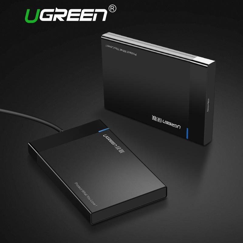 Buy Ugreen Hdd Case 2 5 Inch Sata To Usb 3 Ssd Adapter For Samsung Seagate Ssd 1Tb 2Tb Hard Disk Drive Box External Hdd Enclosure Black Ugreen Online