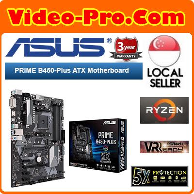 Asus Prime B450-Plus Ryzen ATX Motherboard / AMD B450 Chipset / 8-Channel  Audio Output / LED-Illuminated Design