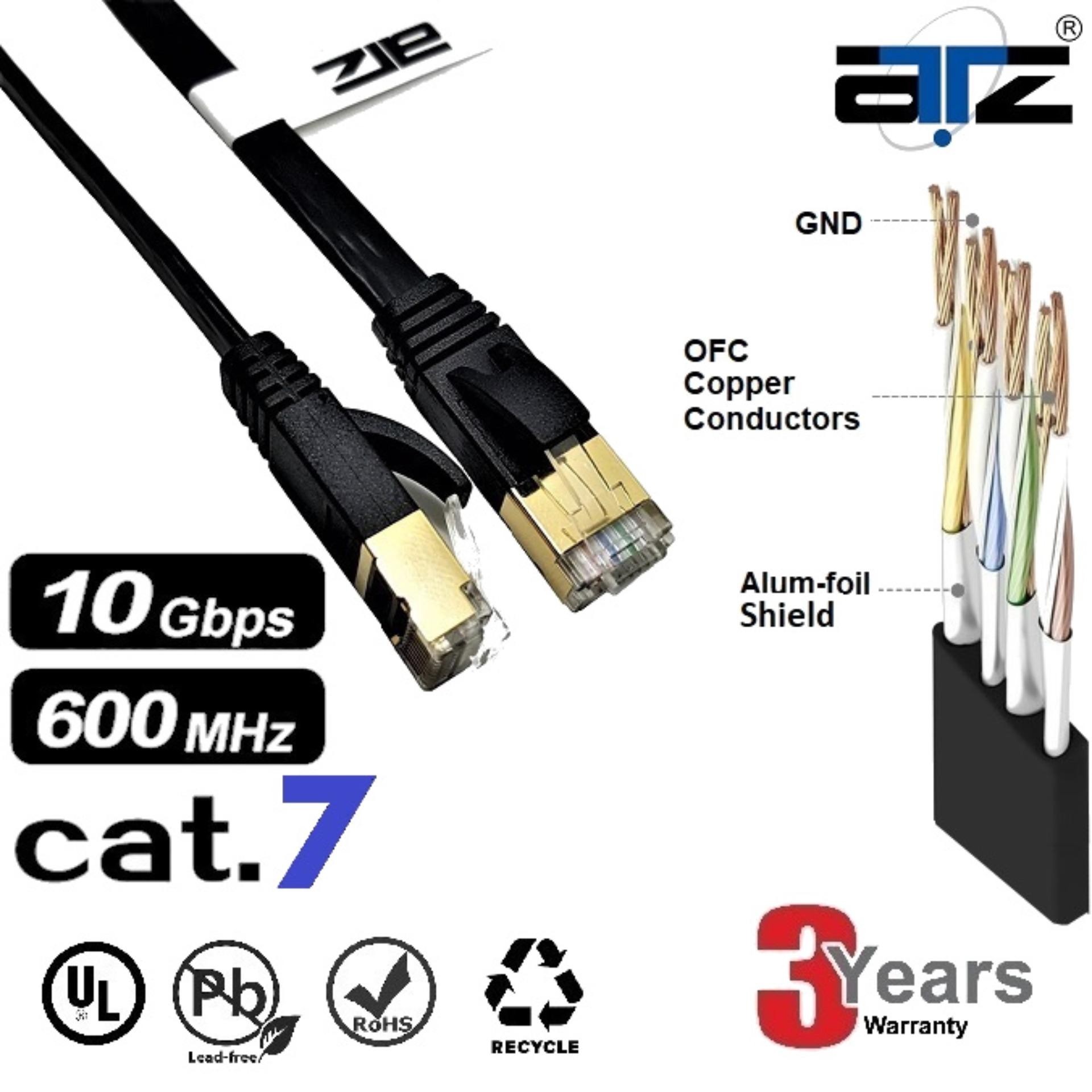 ATZ Cat 7 STP FLAT Gigabit Ethernet Lan Network Patchcord Cable-1M