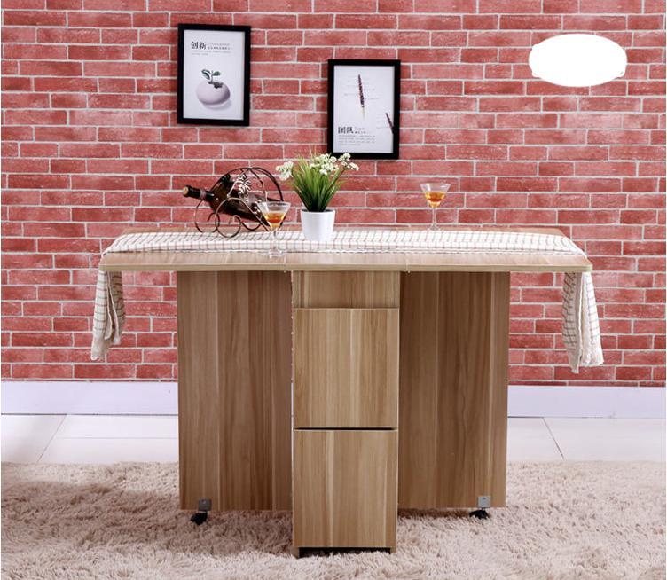 Maison Folding Dining Table (1+4) - Polished Edges 140CM (Free Installation & 1 Year Warranty)