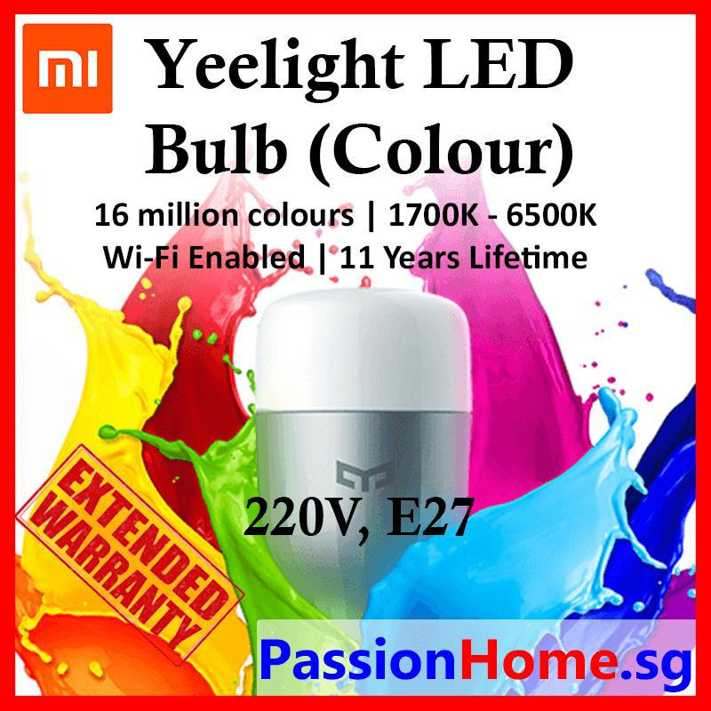 Brand New Original Xiaomi Mijia Yeelight Smart Rgb Led E27 Bulb Colorful Version Wifi Remote Control Light Bulb