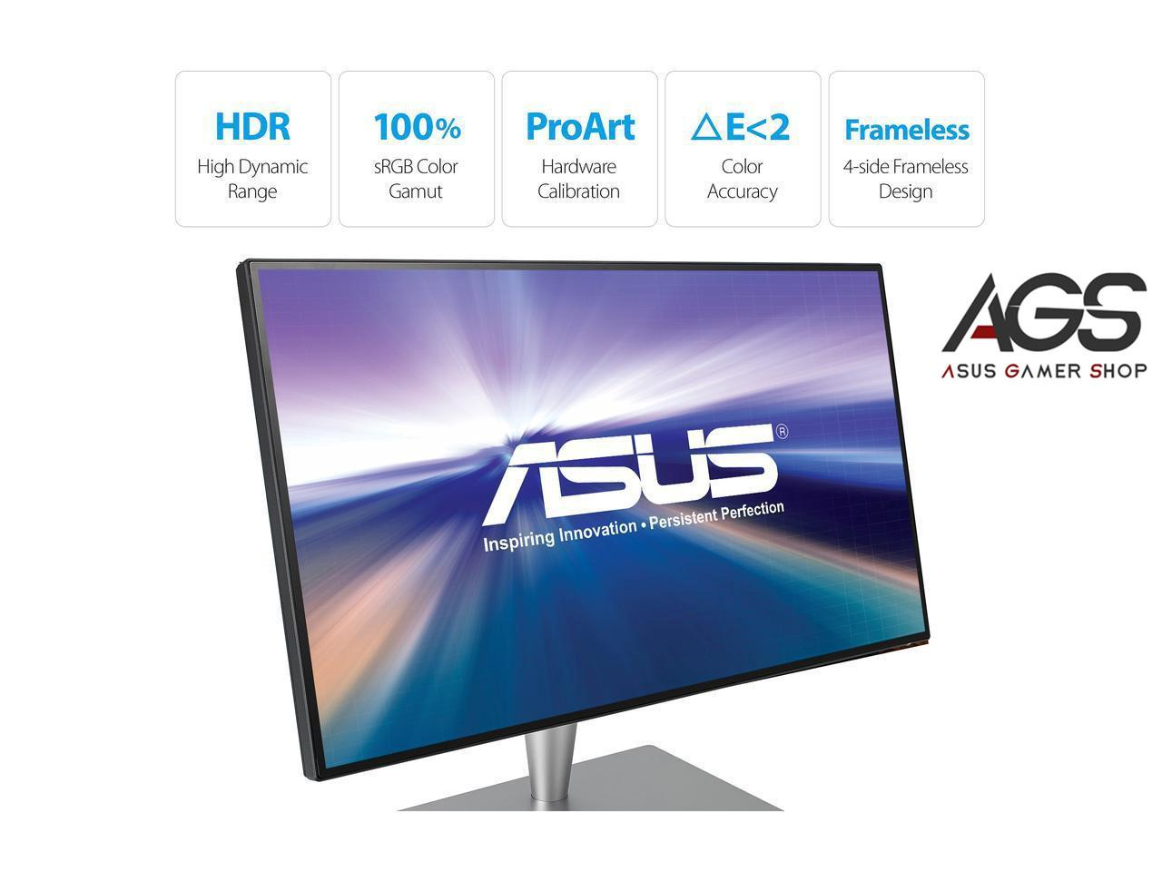 ASUS ProArt PA27AC Grey 27 5ms (GTG) WQHD 2560x1440 HDR-10 100% sRGB TB3 DP  1 2 HDMI 2 0a ProArt Monitor with Eye Care Singapore