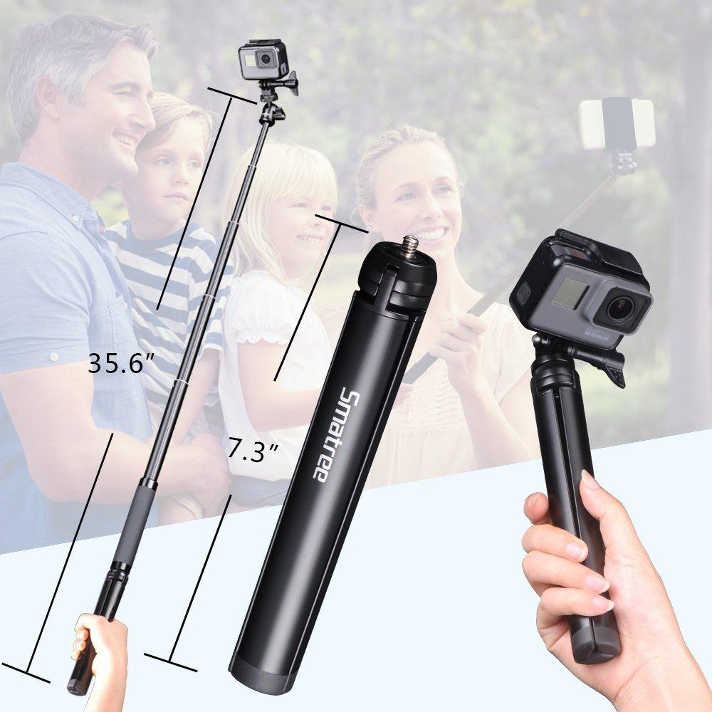 Top Rated Smatree Smapole Sq2 Hand Grip Monopod Selfie Stick Extension Pole With Tripod Stand For Gopro Sjcam Xiaomi Yi Action Camera Accessories