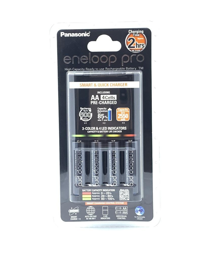 Panasonic Eneloop Pro Quick Charger With Rechargeable Aax4 Kit K-Kj55hcc40t 2550mah (2018 Batch) By Edslrs Sg.
