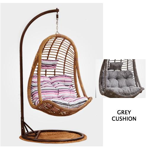 JIJI (Free Installation) Akira Swing Chair (Outdoor Seating / Swing Chair) with cushions - Balcony Swing chair/Relax Chair/ Lounge Chair/ Furniture (SG) Free Delivery