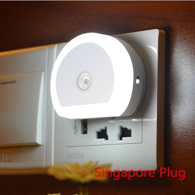 Auto Led Night Light Induction Sensor Control Bedroom Night Lights Luminaria Bed Lamp Color Changing Led Night Lamp Us Eu Plug Lights & Lighting