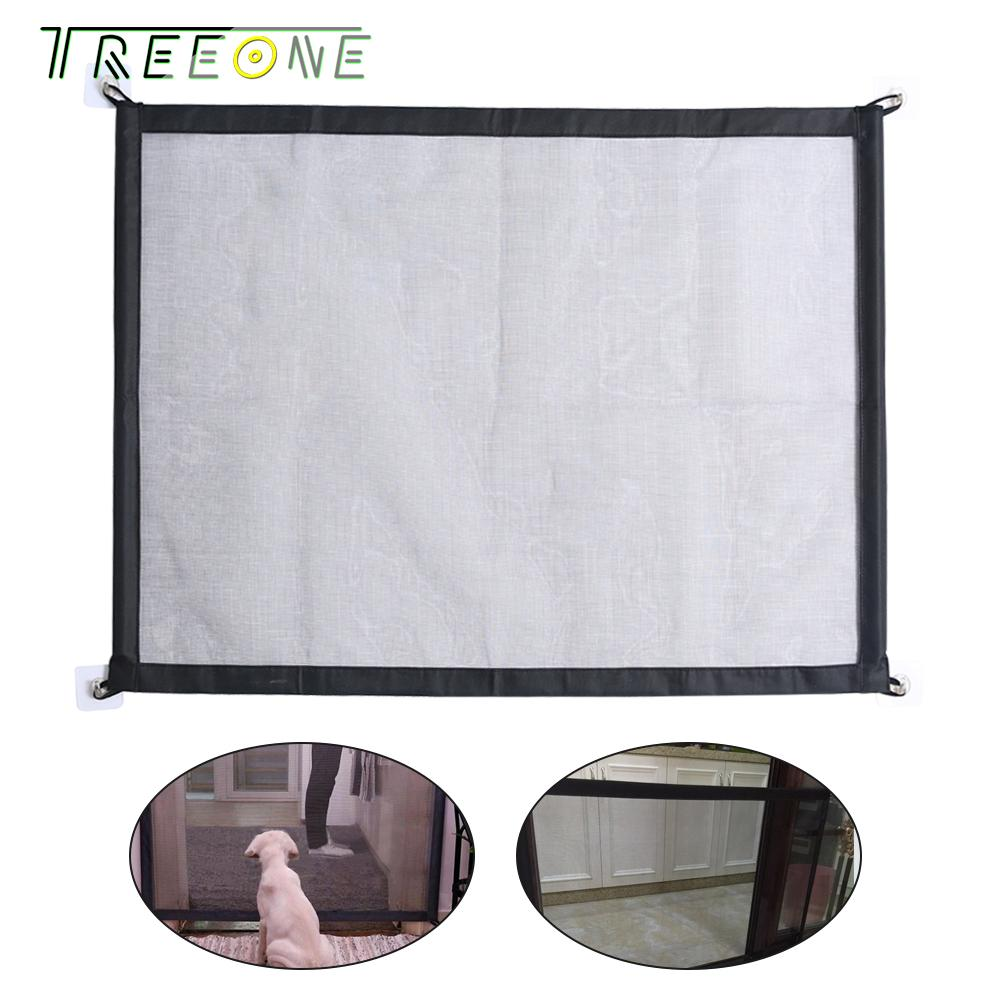 Treeone Magic Gate Pet Safety Guard, Plastic Dog Portable Folding Enclosure Install For Kitchen Stairs, Pet Dog Isolated Fences By Treeone.