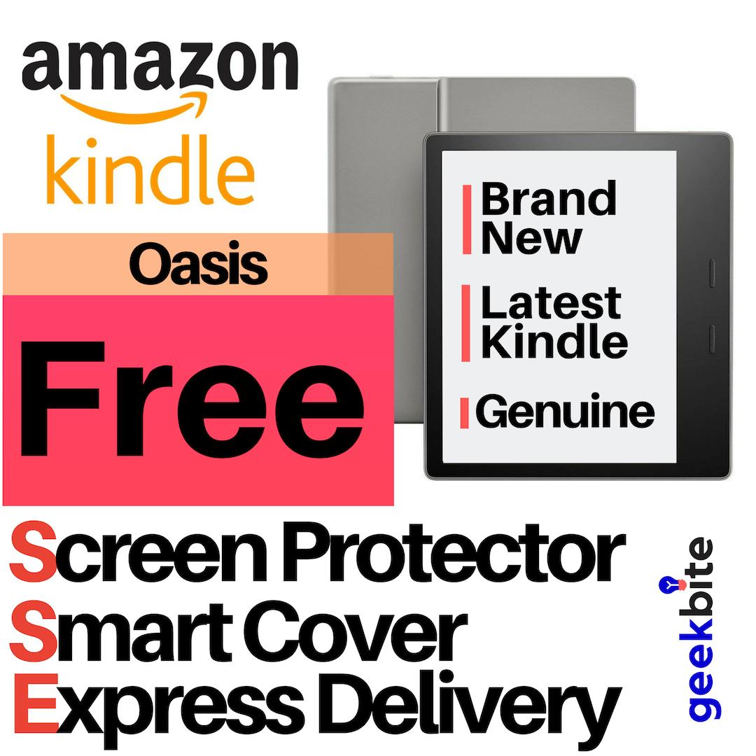 Cheapest GeekBite Amazon Kindle Oasis + Kindle Smart Cover + Screen  Protector (USA/Special Offers)