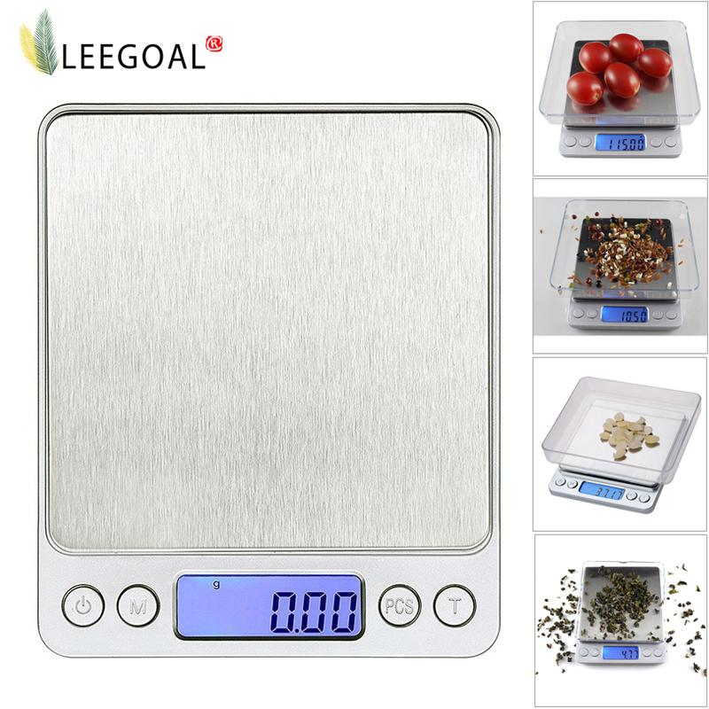 Leegoal 3000g/0.1g Digital Pocket Stainless Jewelry/kitchen Food Scale, Lab Weight,silver By Leegoal.