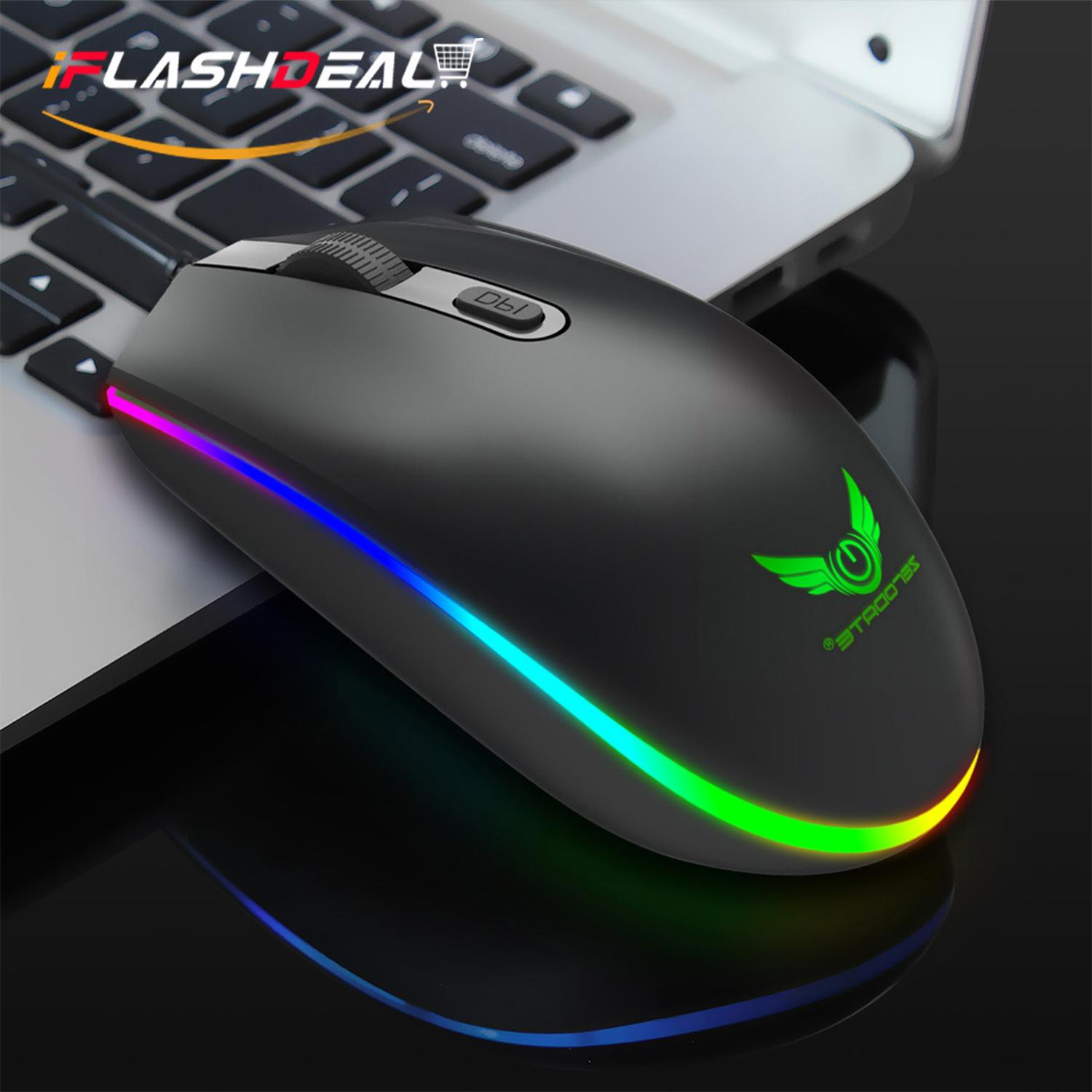 iFlashDeal USB Optical Wired Gaming Mouse Wired Mice Gamer Computer Mice for PC Laptop