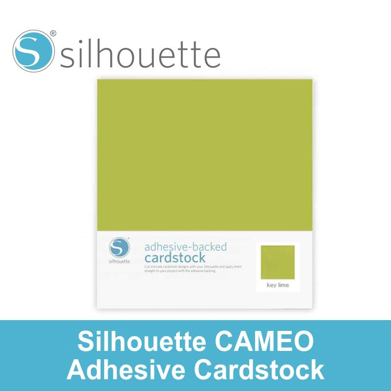 Silhouette Cameo Adhesive-Backed Cardstock - Key Lime