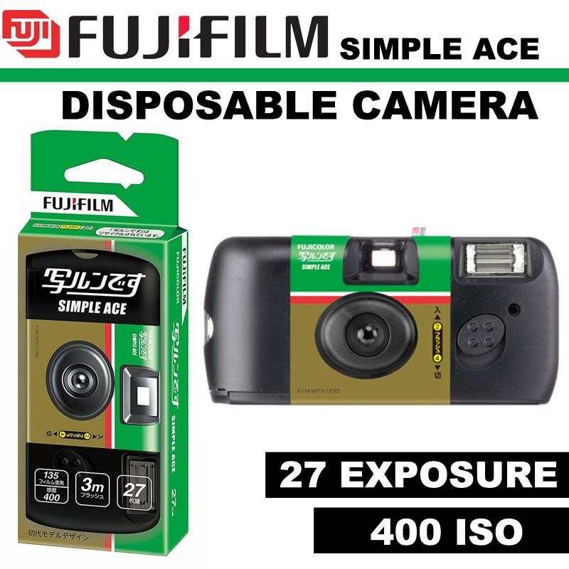 Fujifilm 35mm Disposable Single Use Camera Simple Ace - Iso 400 - 27 Exposure By Icm Photography.
