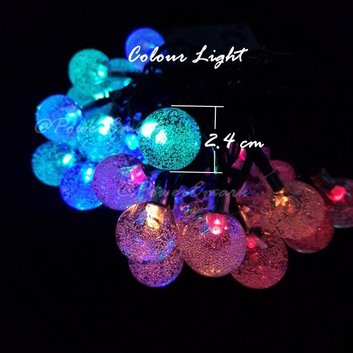 Outdoor Decoration Christmas light 30Led Bubble Ball Solar Powered Event Light