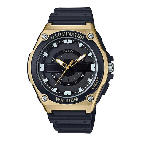 Casio Mens Standard Analog Black Resin Band Watch Mwc100h-9a Mwc-100h-9a By Watchspree.