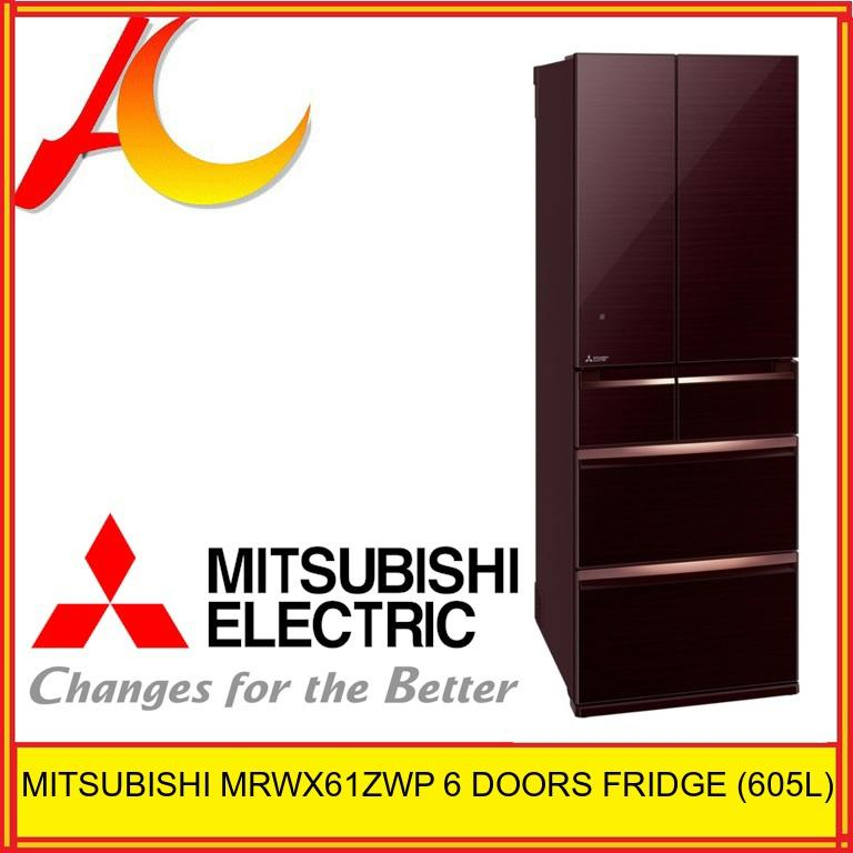MITSUBISHI MRWX61ZWP 6 DOORS FRIDGE (GROSS 605L) MADE IN JAPAN