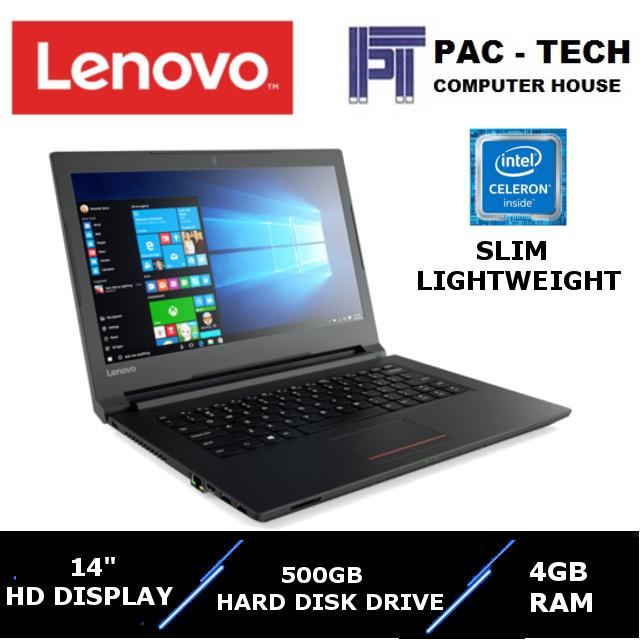 [Brand New]Lenovo V110 Laptop/Intel Processor/14 HD Display/4GB RAM/500GB HDD/180 Degree Hinges/Lightweight Everyday Laptop/1 Year Warranty