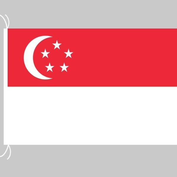 Singapore Flag  State Flag  Polyester Material  Finishing : for Indoor Pole (supply without pole)