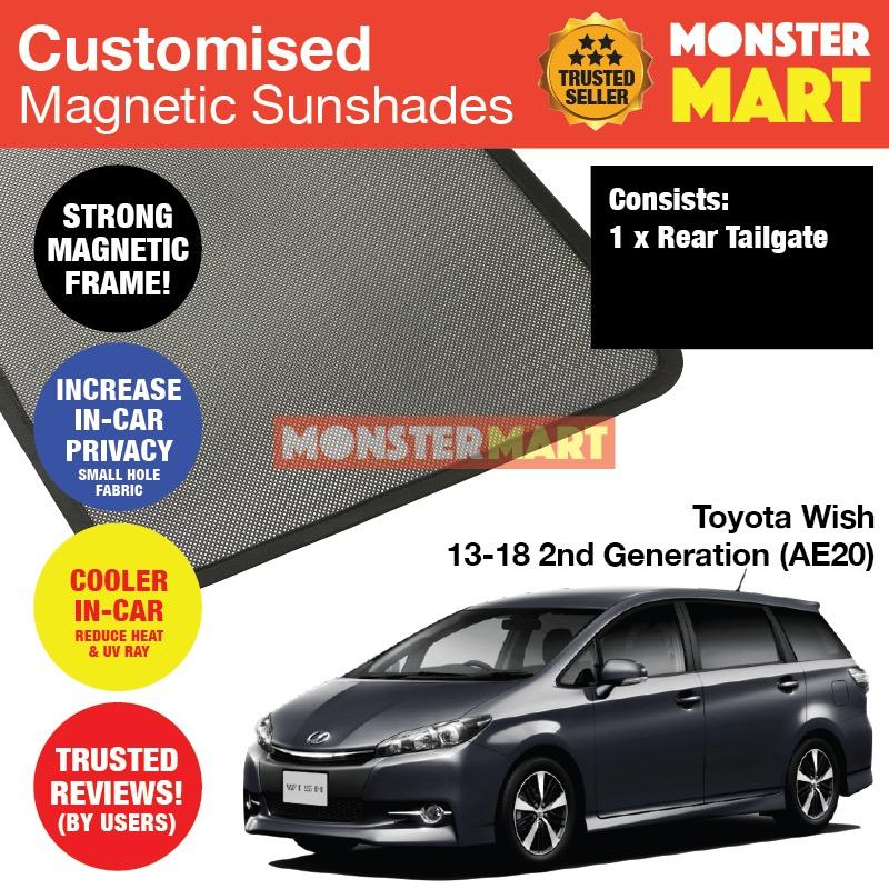 Buy Toyota Wish 2013 2018 2Nd Generation Ae20 Customised Car Accessories Window Rear Tailgate Sunshade 1 Piece Cheap Singapore