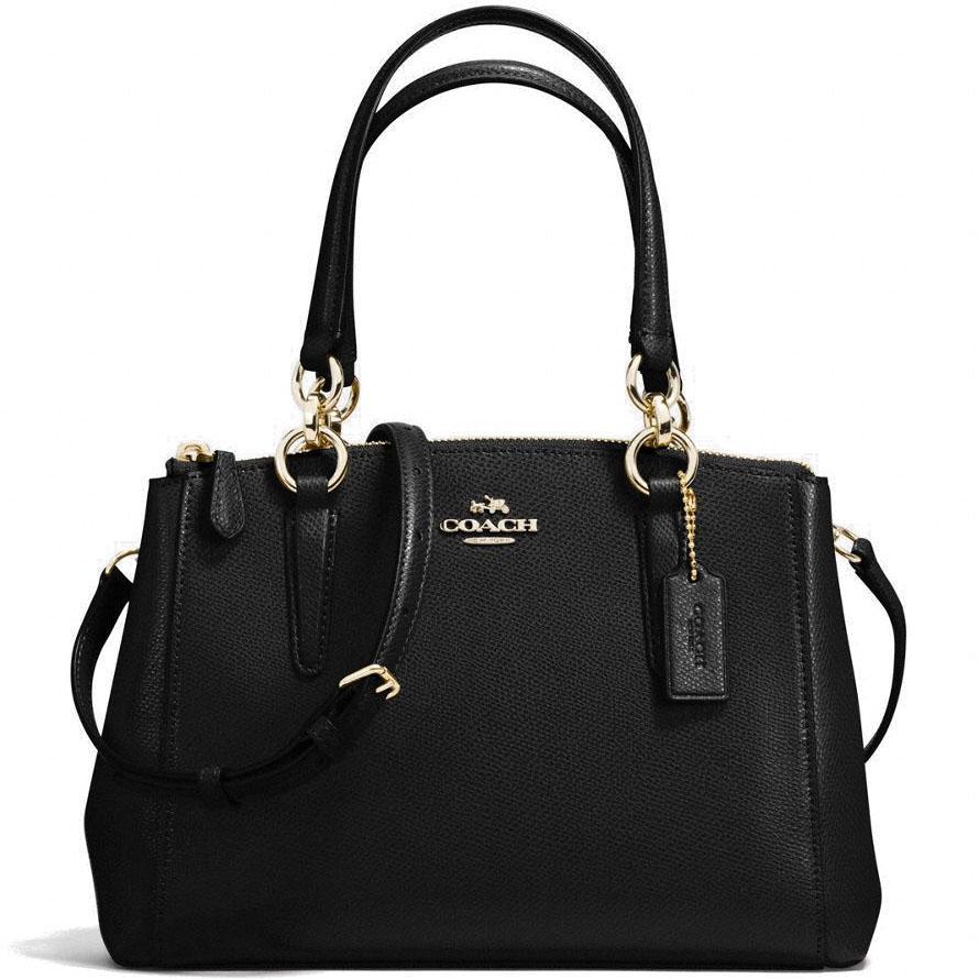 Compare Coach Crossgrain Leather Mini Christie Carryall Crossbody Shoulder Bag Handbag Black F57523 Gift Receipt Prices