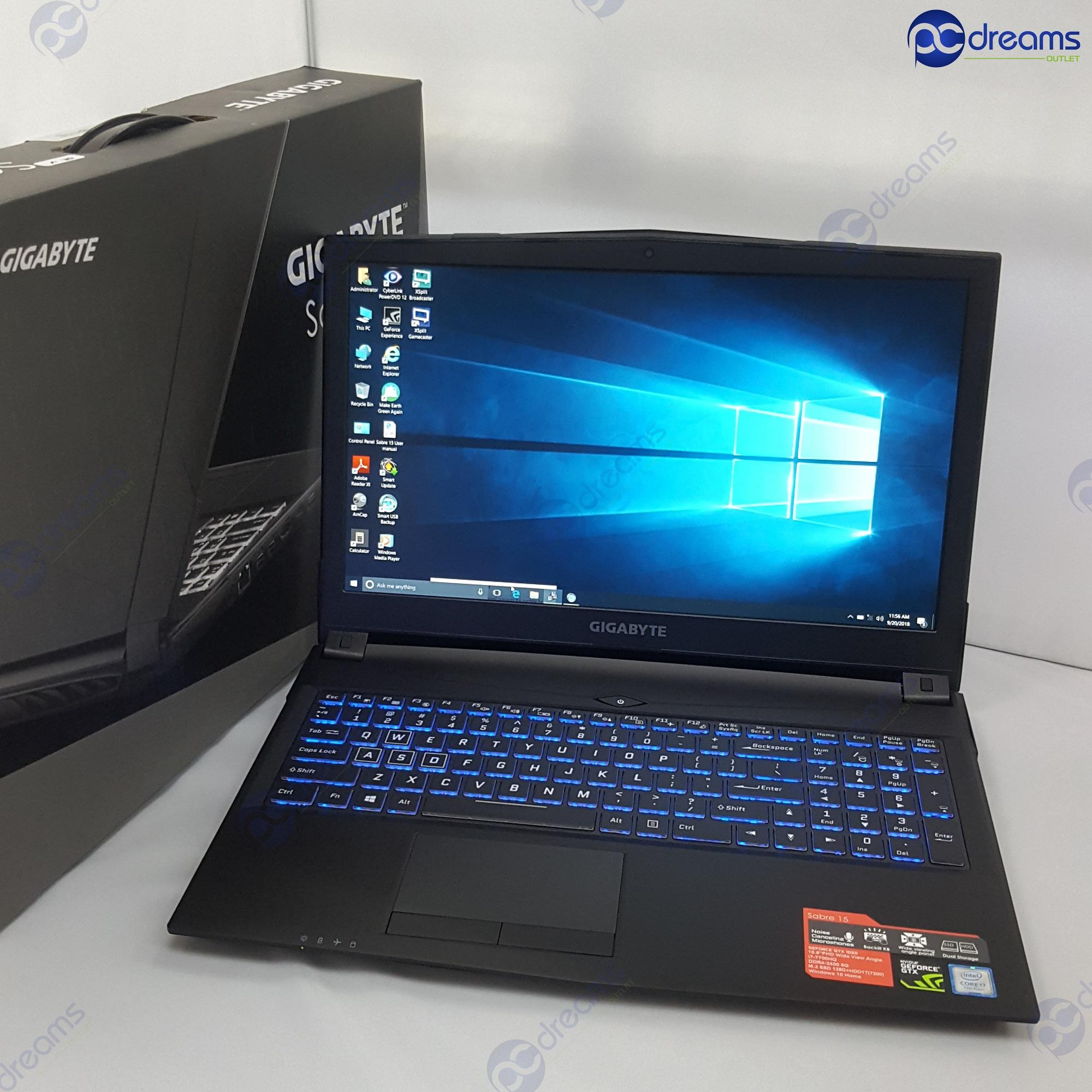 BEST LOBANG! GIGABYTE P45G i7-7700HQ/8GB/12GB SSD + 1TB HDD/GTX1050 [Brand New]