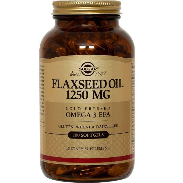 Retail Price Solgar Flaxseed Oil 1250Mg Cold Pressed Omega 3 Efa 100 Softgels