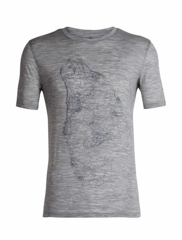 Icebreaker T-Shirt Men Merino Wool 150 Tech Lite - Contour Crew - Outdoor  Camping 1d7e756e9