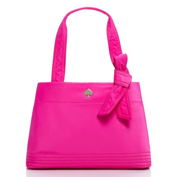 Kate Spade Flatiron Nylon Maryanne Handbag Vivid Snapdragon Hot Pink Pxru4224 Singapore
