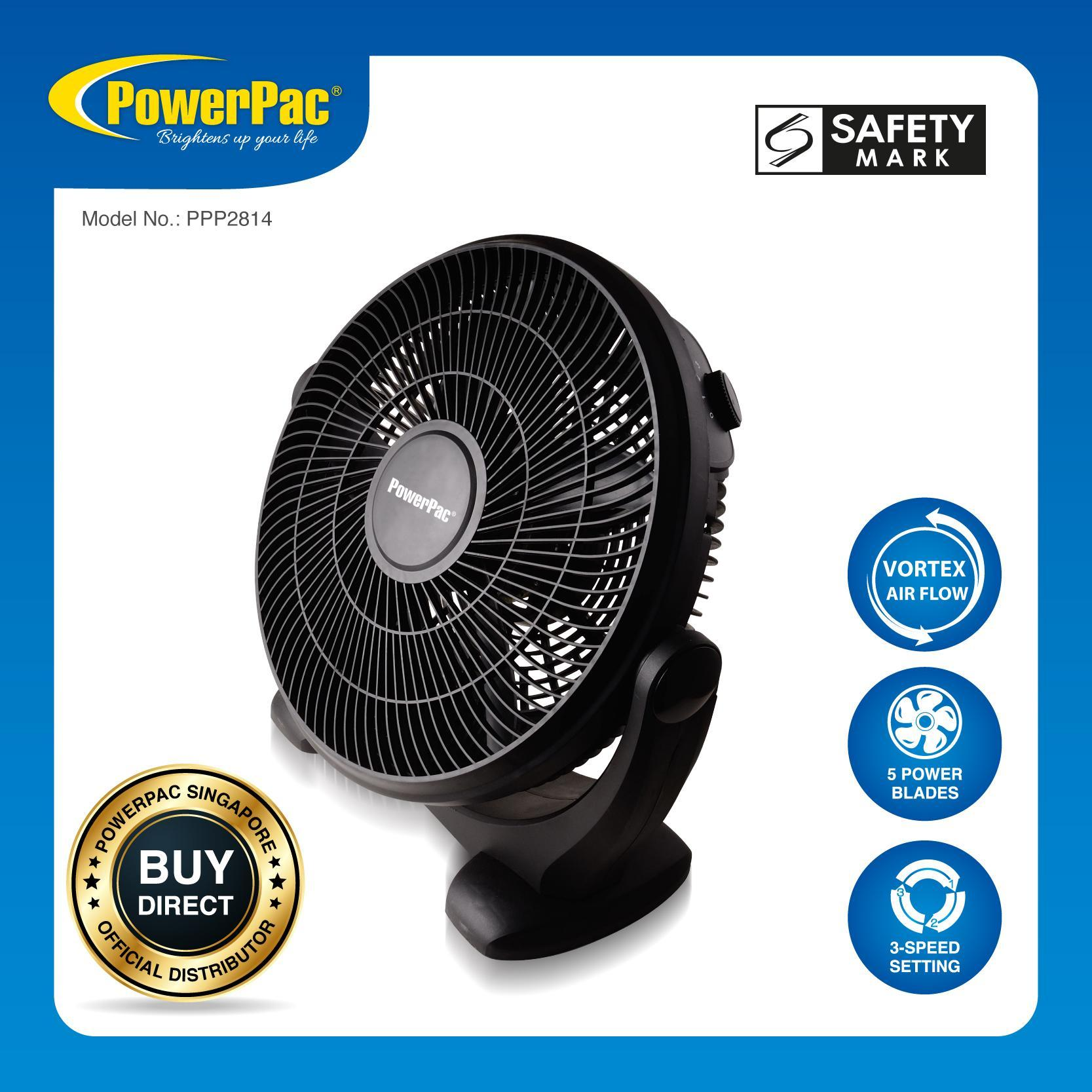Buy Brand New Collection Of Fan Electric Powerpac 14 Inch Air Circulator With Vortex Flow Pp2814