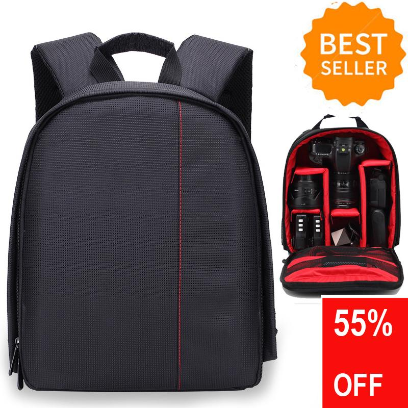 Multi Compartment Waterproof Camera Package Backpack Bag Free Shipping