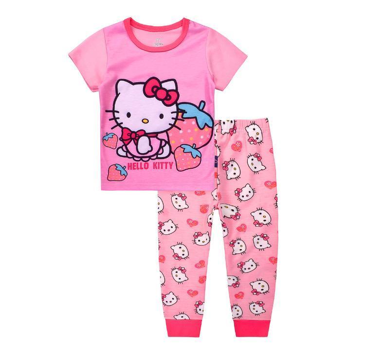 Get Cheap Kids Clothes Hello Kitty Pajamas Short Sleeve Hello Kitty Sleepwear