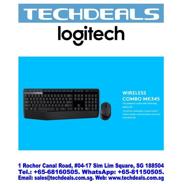 Logitech MK345 Wireless Keyboard & Mouse Combo Singapore