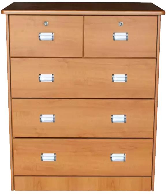 [A-STAR] Chest of 5 Drawers Cabinet in Cherry