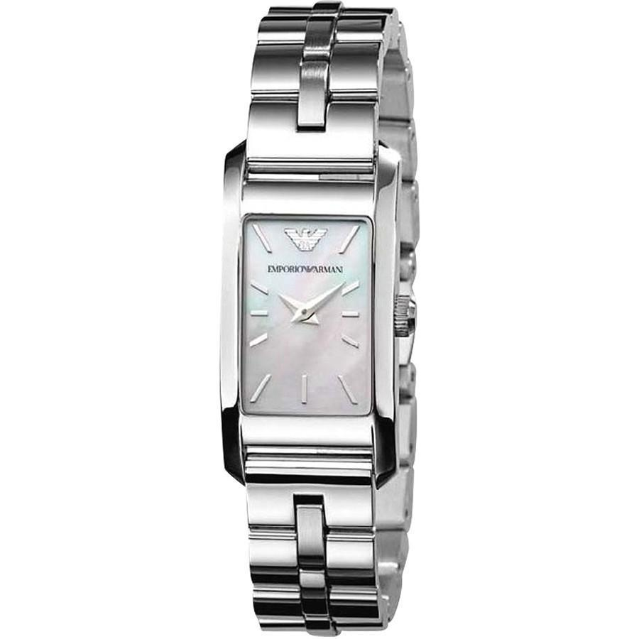 [new] Emporio Armani Ladies Silver Metal Bracelet 19mm Dial Ar0733 By Watch Centre.