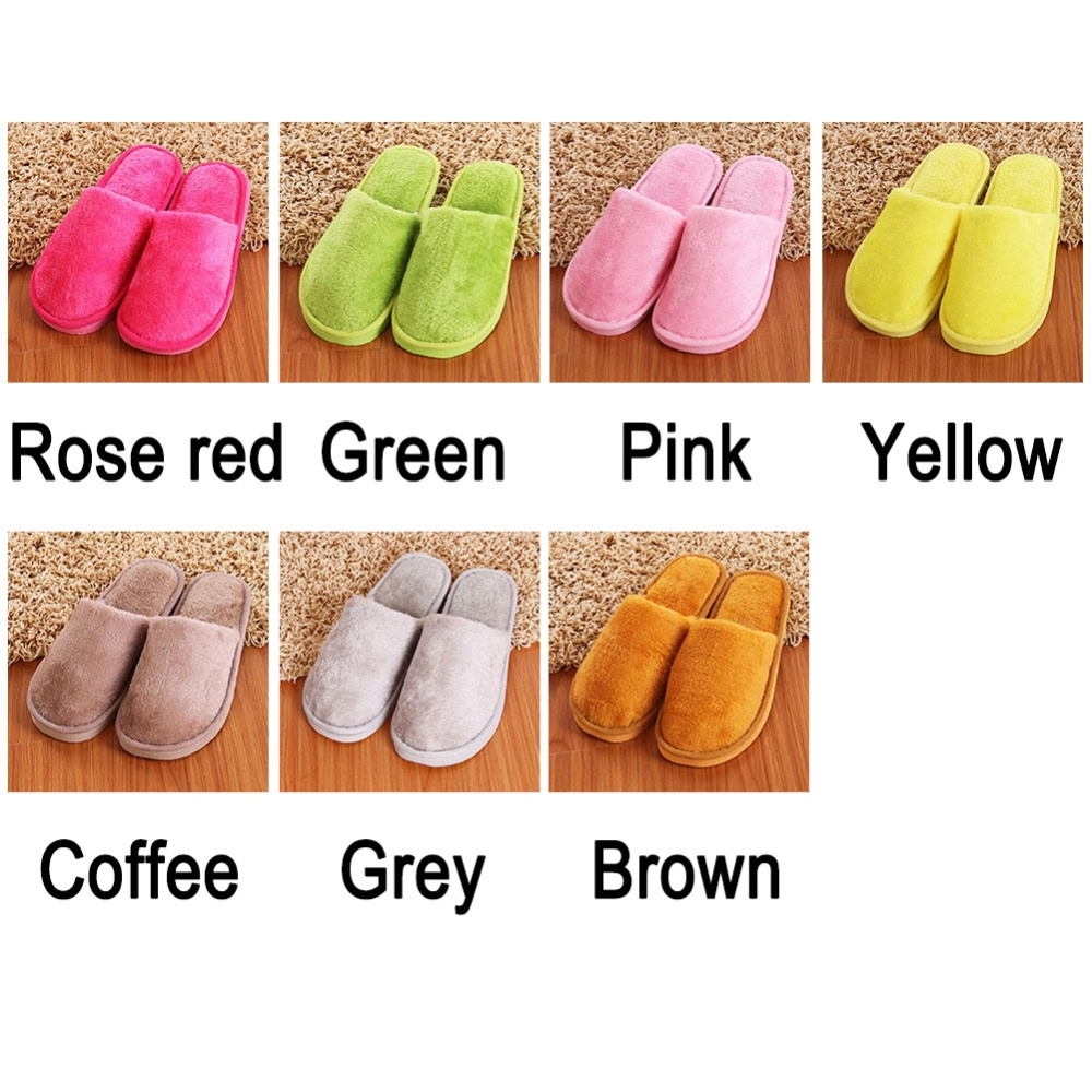 Home Anti-slip Shoes Soft Warm Cotton Sandal House Indoor Slippers 7 colors