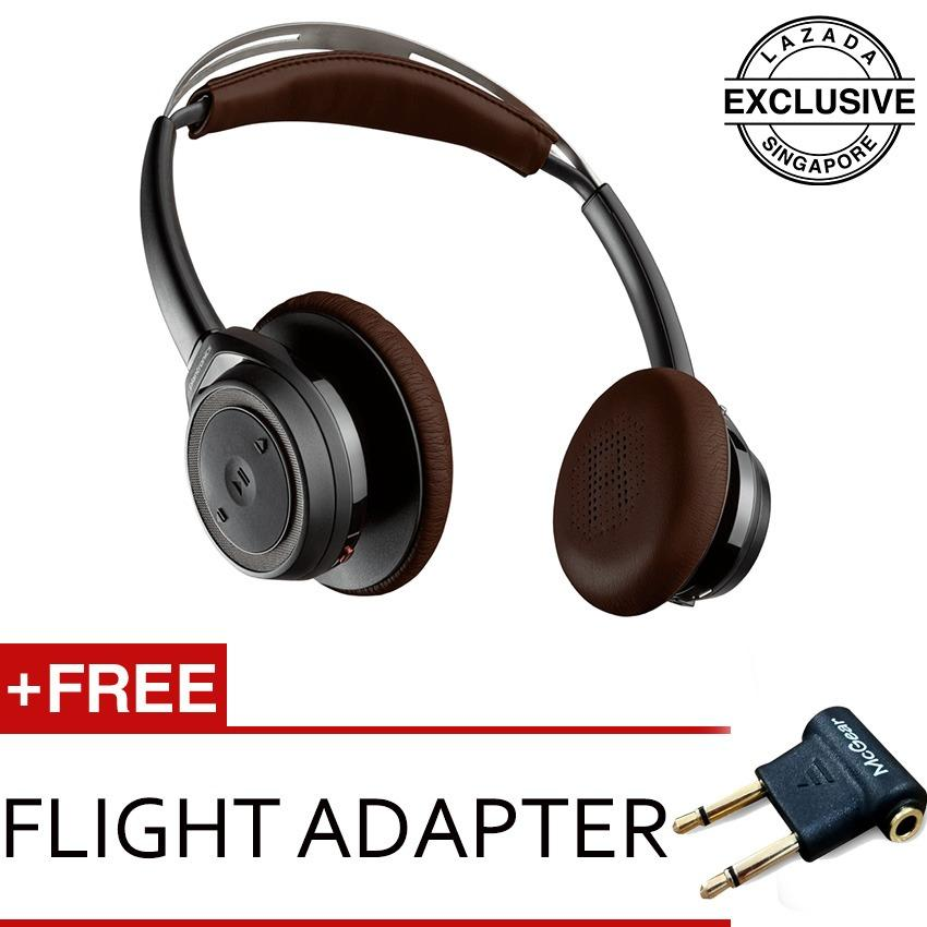 Sale Plantronics Backbeat Sense Wireless Headphones Mic Black W Flight Adapter Singapore