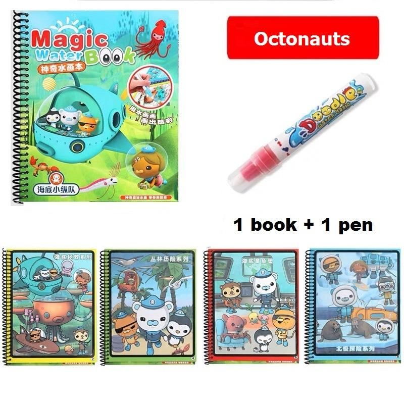 Magic Water Drawing Coloring Book Octonauts Water Doodle Painting Colour Books Kids Gift Goodie By Master Of Thrift.