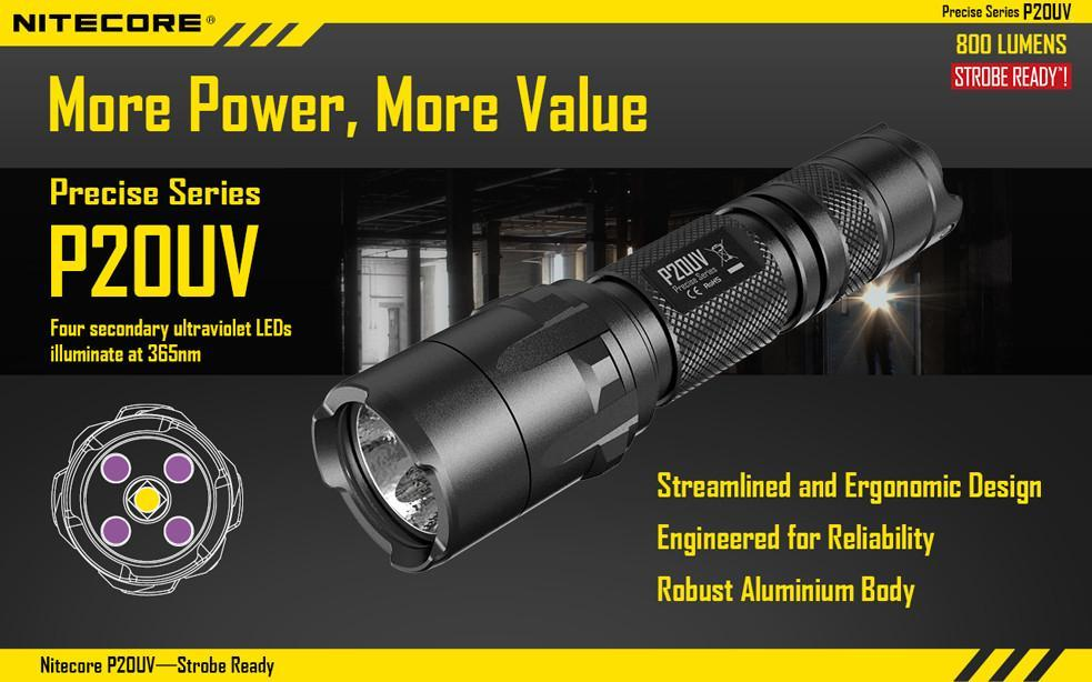 Nitecore P20UV Tactical Torchlight 800 Lumens