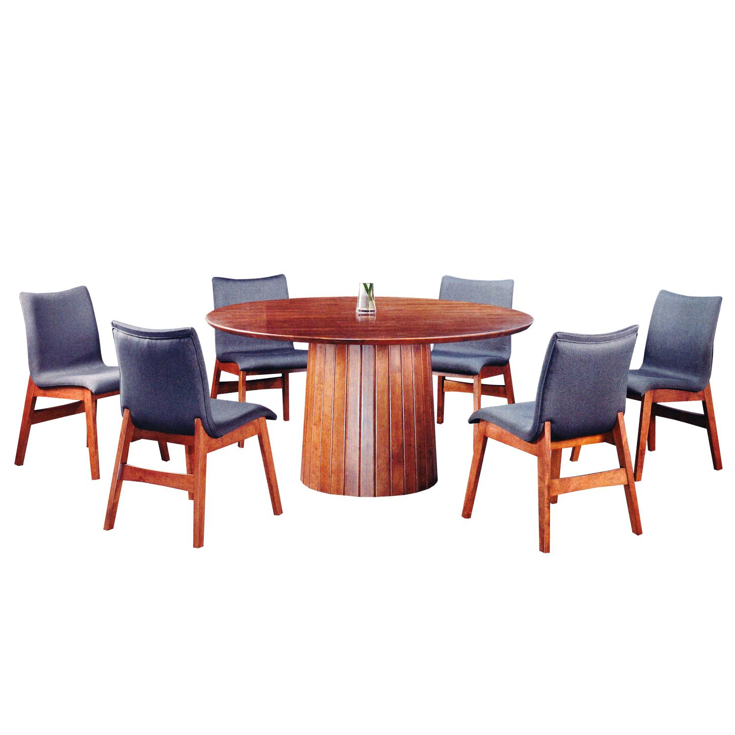 LIVING MALL_Farnham Dining Set 1+6_FREE DELIVERY