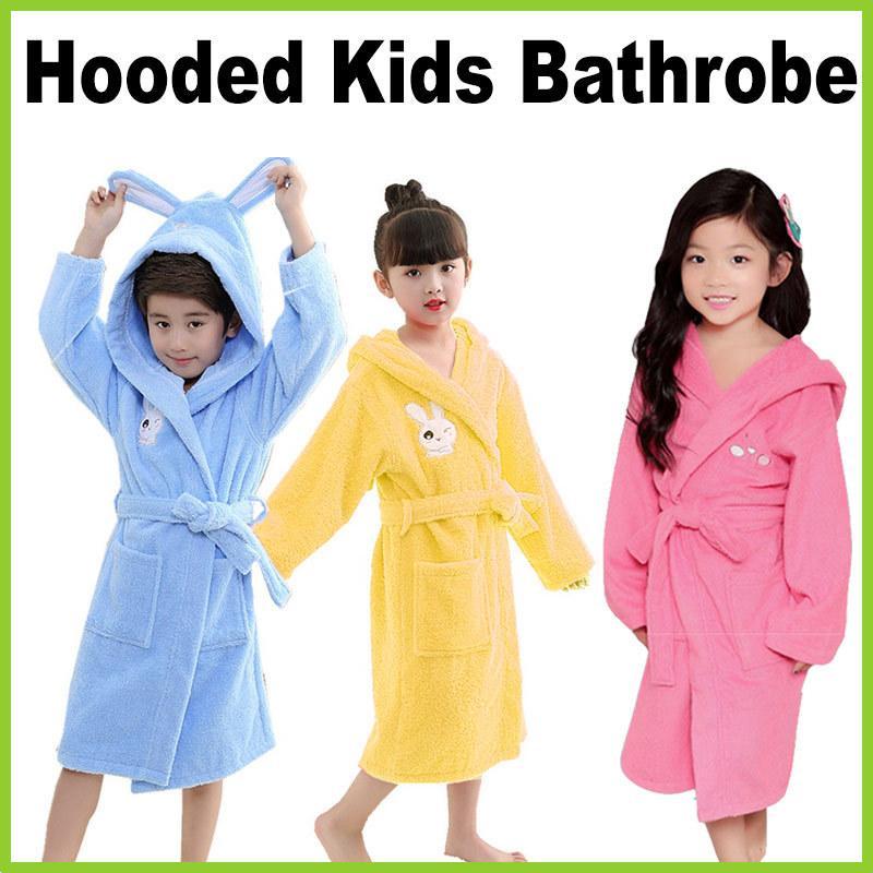 One Mart  YH1804  Hooded Kids Bathrobe ☆ Cool Rabbit Design ☆ 4 de22a7a9a