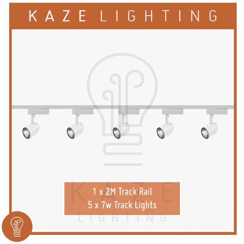 LED COB Track Light 6500K 7w x5 + 2m track