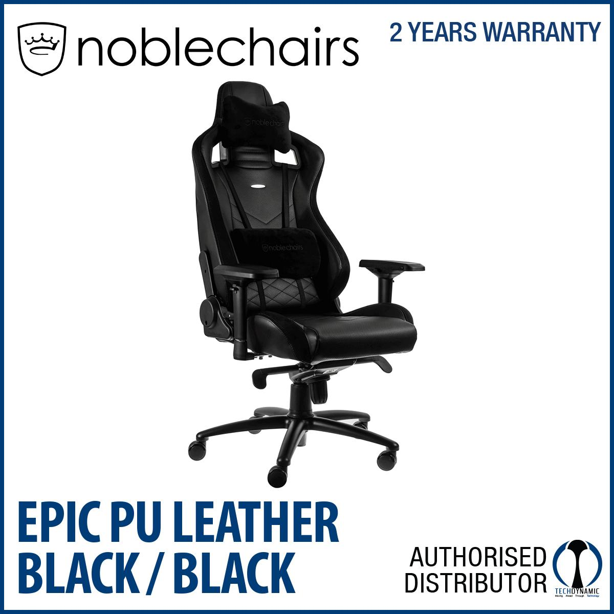 Noble Chairs Gaming Chair Epic Series Black Compare Prices