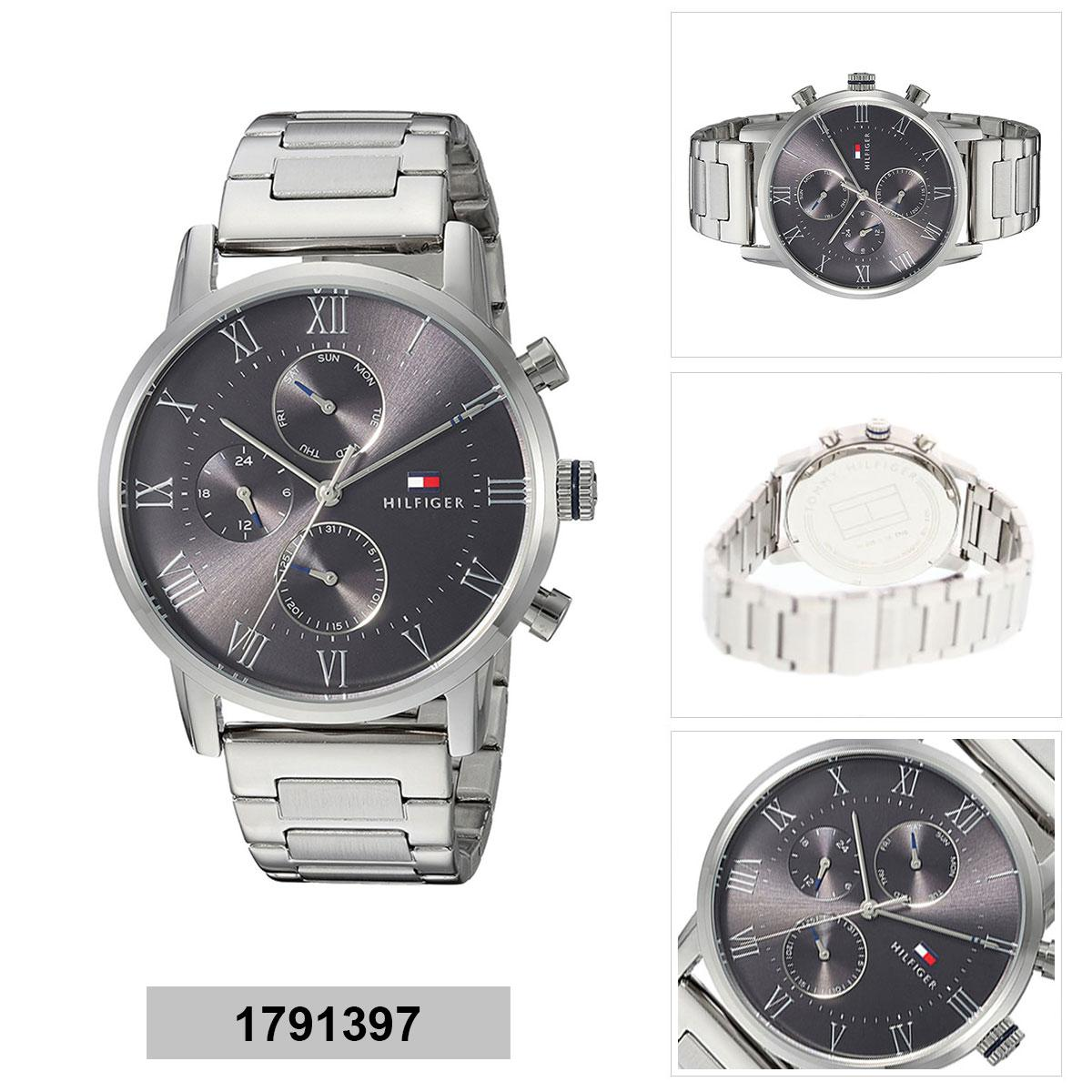 de86d4d214a00 Tommy Hilfiger KANE Silver Stainless-Steel Case Stainless-Steel Bracelet  Mens 1791397