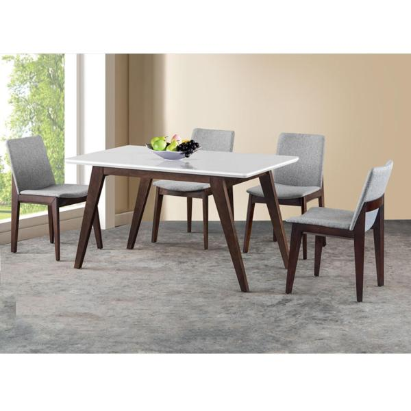 Asley 1+4 Glass Top Dining Set