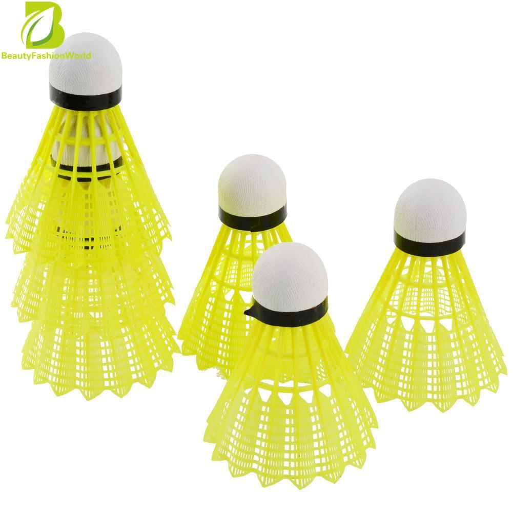 6pcs Train Gym Yellow Nylon Shuttlecocks Badminton Ball Game Durable Useful - Intl By Beautyfashionworld.