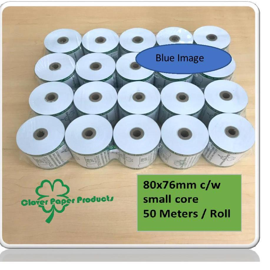 Discount 20 Rolls Of Pos Thermal Paper Roll 80 X 76 X 12Mm Blue Image Oem On Singapore