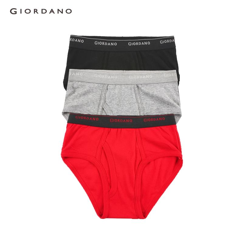 31d4bc8eb  3 PACKS  Giordano Men Underwears Pack Of 3 Regular Briefs Plain Casual  Basic Elastic