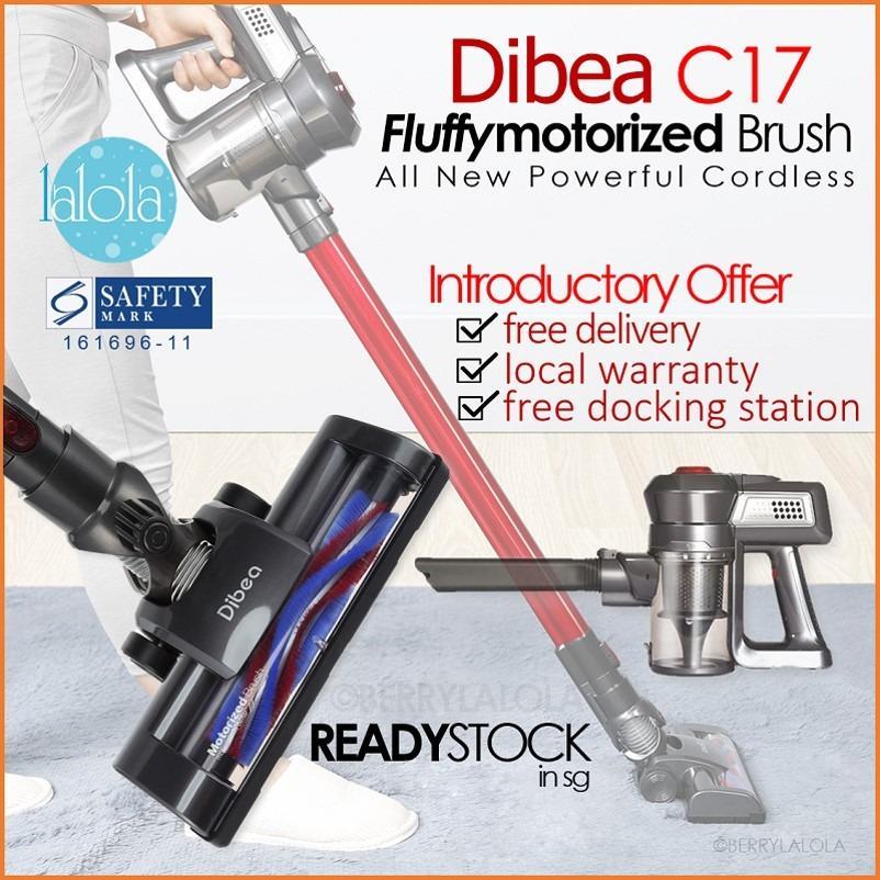 [Official Dibea Singapore) C17 Cordless Vacuum 2 In 1 8 SAFETY MARK LOCAT SET