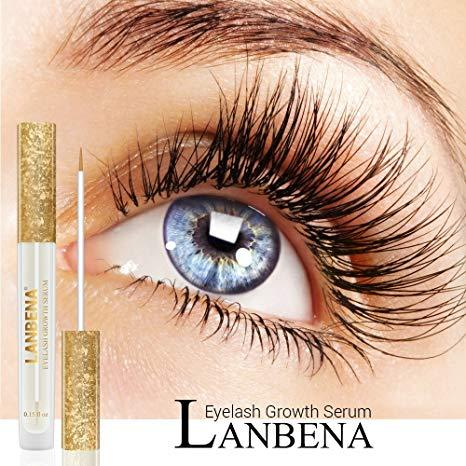 Lanbena Eyelash Enhancerlash Booster Serumeyelash Growth Serum For Longer, Thicker, Fuller Eyelash By Initial Avenue.